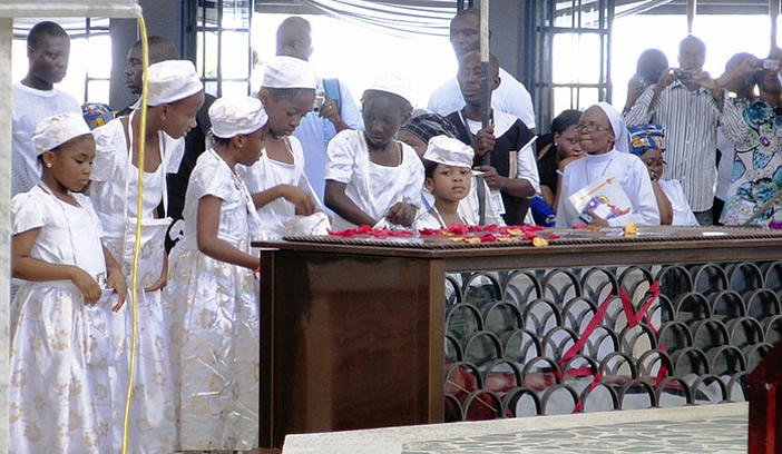 The Relics of Blessed Cyprian Michael Iwene Tansi