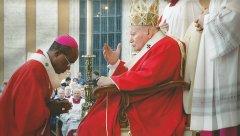 His Grace receiving Papal Blessing